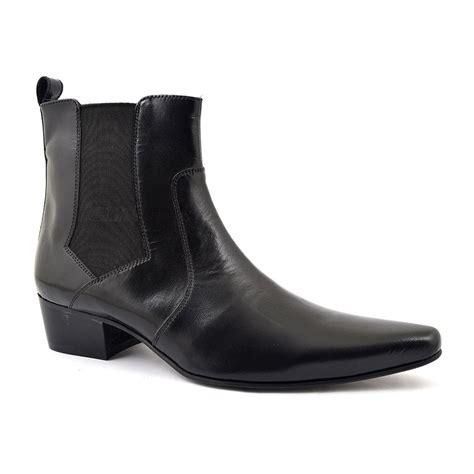 mens chelsea boots cuban heel buy mens black cuban heel chelsea boots gucinari style