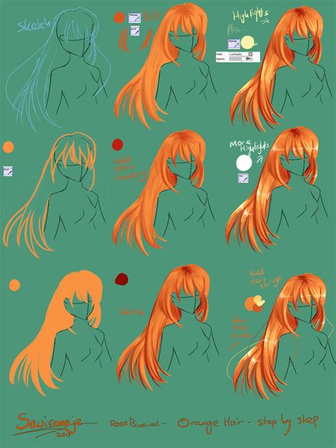 paint tool sai drawing hair step by step how to draw hair by saviroosje on deviantart