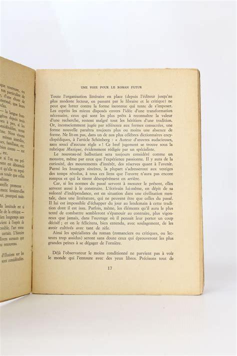 pour un nouveau roman robbe grillet pour un nouveau roman edition originale edition originale com