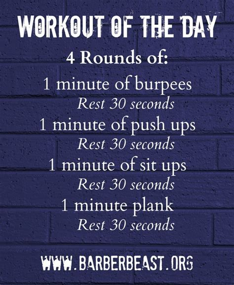 One Minute Routines To Add To Your Day by Workout Of The Day 1 Minute Intervals Of Burpees Push