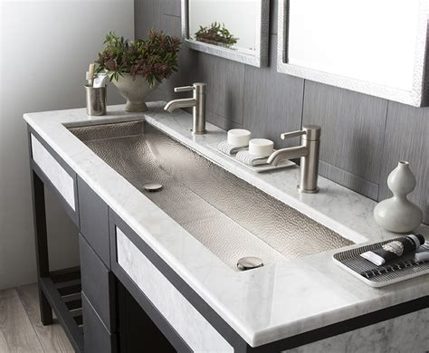 Ideas Design For Bathroom Trough Sink Fresh Corian Trough Sink Bathroom 19961