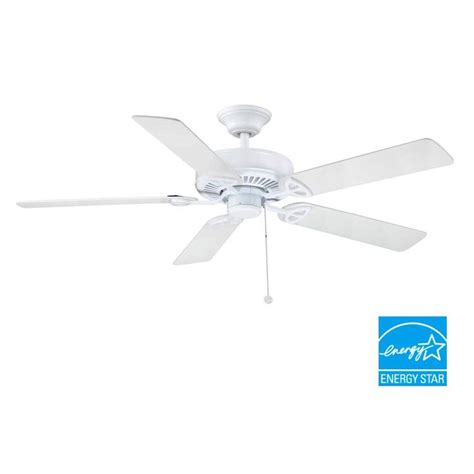 52 farmington ceiling fan farmington 52 in indoor white ceiling fan b552qi wh the