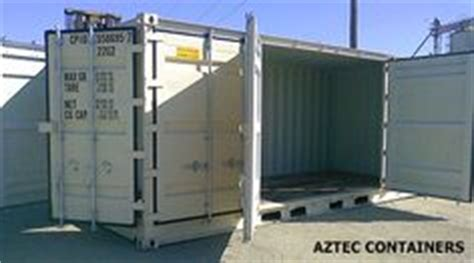 aztec storage containers aztec containers 20 foot open sided container