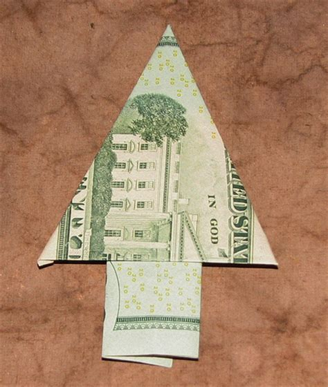 fold dollar into christmas tree ink stains 25 ideas for the holidays 15 origami money tree