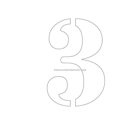 free printable number stencils for painting free 12 inch 3 number stencil freenumberstencils com