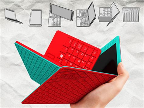 How To Make A Origami Computer - fujitsu s folding origami laptop doubles as tablet is
