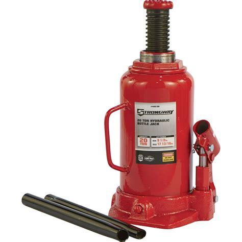 FREE SHIPPING — Strongway 20-Ton Hydraulic Bottle Jack ... Hydraulic Car Bottle Jack