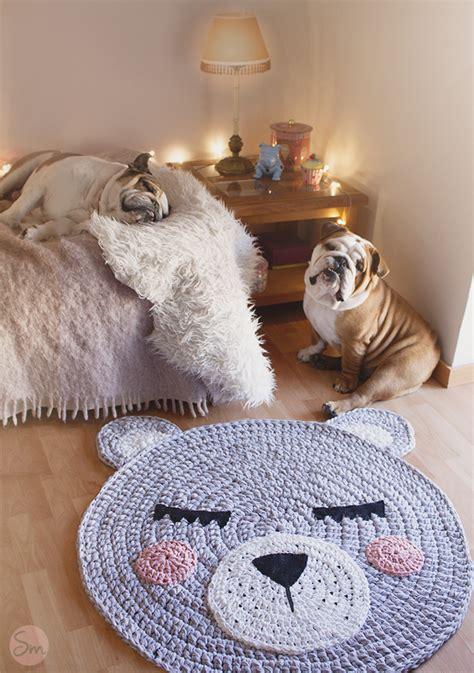 susimiu patron alfombra de trapillo modelo teo cabeza de oso