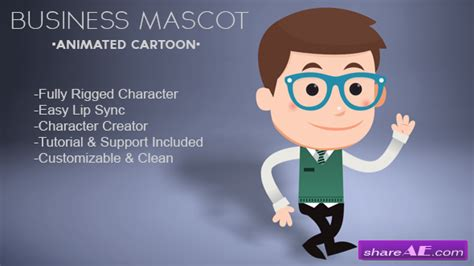 free after effects templates for commercial use business mascot animated cartoon after effects project