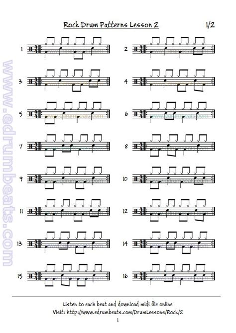 drum rhythm tutorial 16 best drum sheet music images on pinterest drum sheet