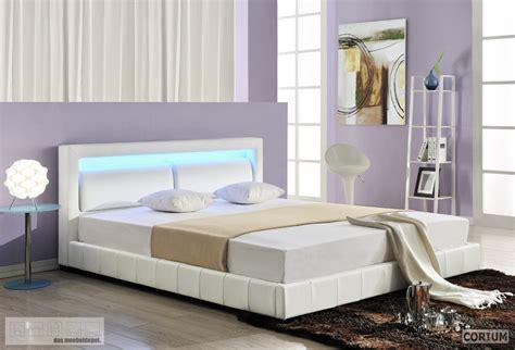 Bett Leder by Design Lederbett Mit Led Beleuchtung Polsterbett Bett