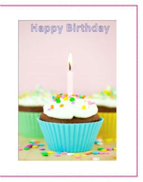 birthday card template microsoft word 2010 use microsoft office to make your own birthday cards