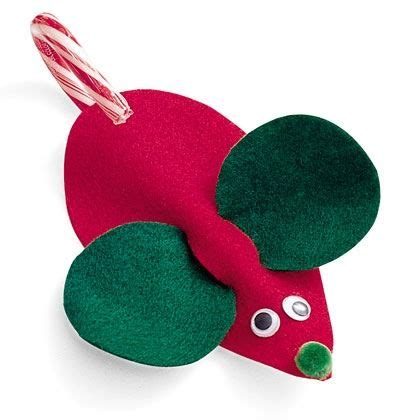 felt mouse candy cane holder table top pinterest