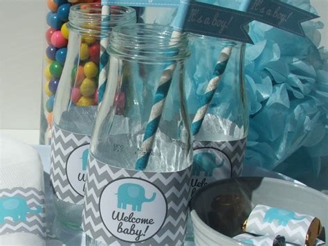 Baby Boy Elephant Themed Baby Shower by Boy Baby Shower Themes Favors Ideas
