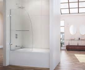 bathtub doors glass frameless trackless minimalist home