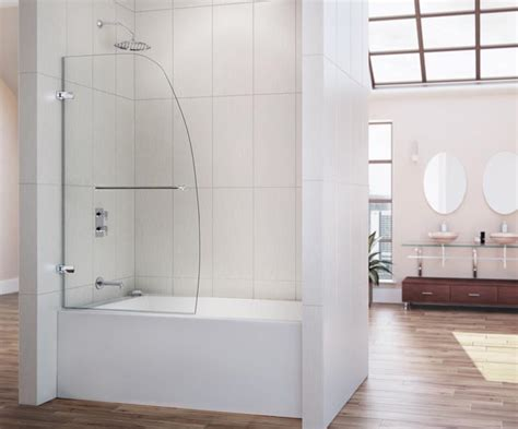 Glass Door Tub Dreamline Showers Aqua Uno Hinged Tub Door