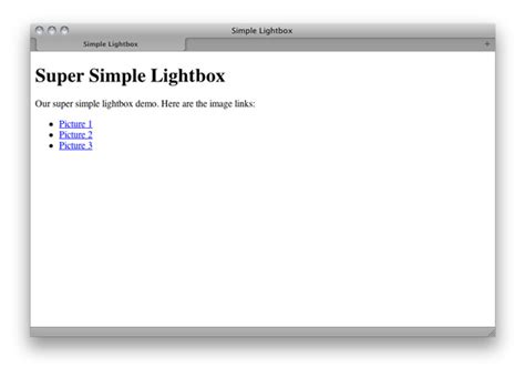 div lightbox simple lightbox with css and jquery