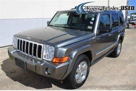 07 Jeep Commander Sell Used 07 Jeep Commander Heated Seats Leather Sunroof