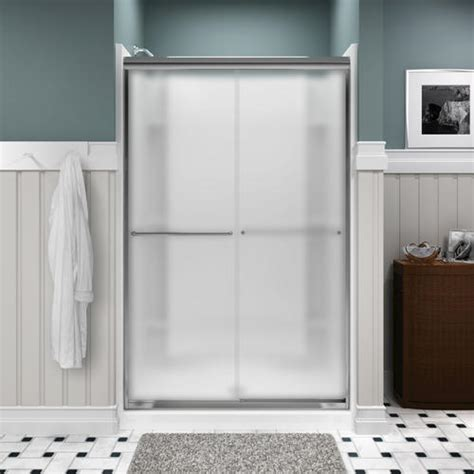How To Install Sterling Shower Door Sterling Finesse Frameless By Pass Shower Door At Menards 174