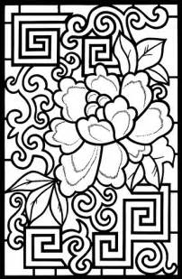 stained glass coloring books designs stained glass coloring book 1 flickr