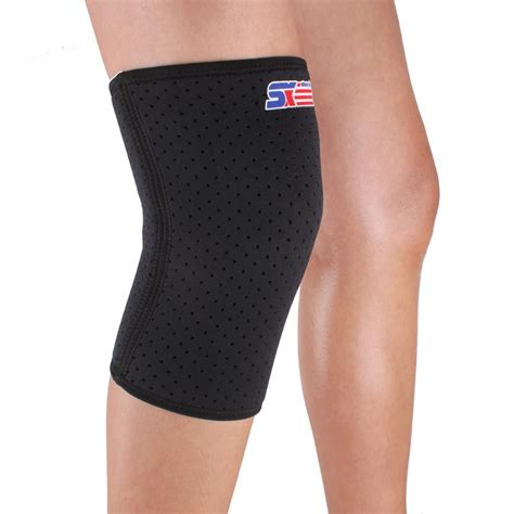Ams Sport Knee Support Flypower free shipping sx607 sports leg knee patella support brace wrap protector pad sleeve black in