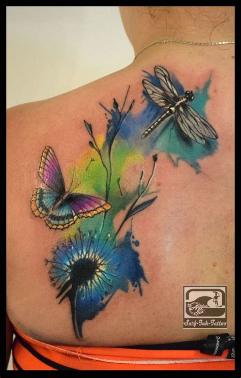 watercolor tattoo feder watercolour watercolor aquarell