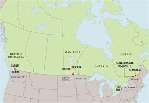 us canada border map border communities maclean s reporters visited surrey b