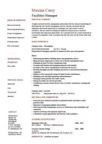 Building Maintenance Manager Sle Resume by Facilities Manager Resume Property Maintenance Description Exles Template Space