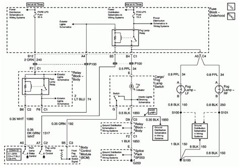 2000 silverado light wiring diagram chevy silverado