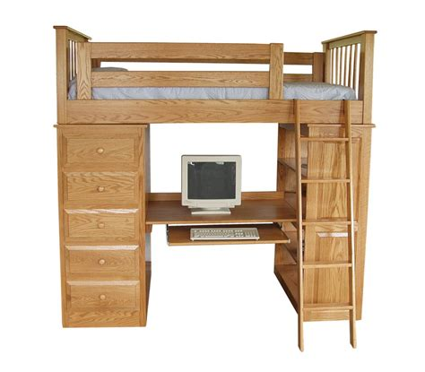 Desk Bunk Bed Combo