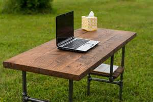 Diy Rustic Desk Reclaim Wood Desk Barn Wood Table Computer Desk Home