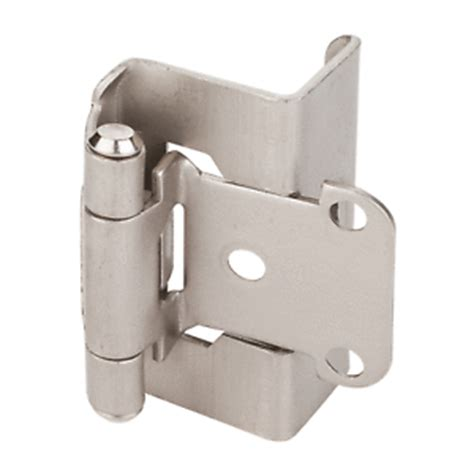 1 4 overlay cabinet hinges full wrap self closing hinge 3 4 quot overlay satin nickel ebay