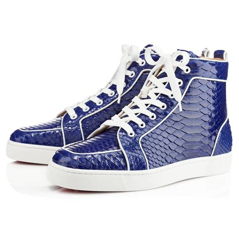 louboutin mens sneakers christian louboutin rantus orlato mens flat in blue for