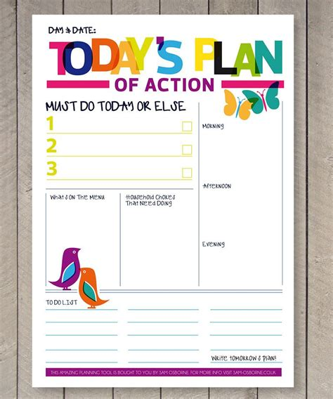 Printable Planner Daily To Do List Family Organiser Rainbow Today S To Do List Template