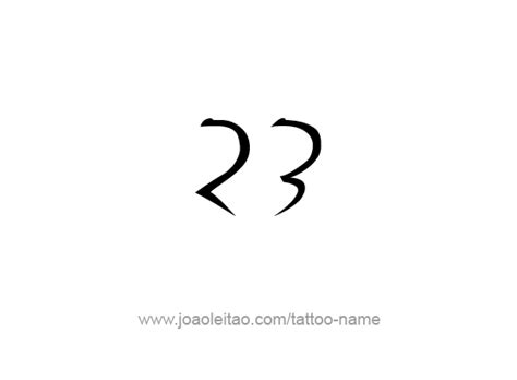 number tattoo design twenty three 23 number designs tattoos with names