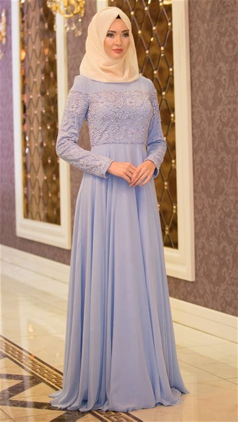 Gamis Pesta Simple 50 Model Baju Brokat Muslim Dari Dress Gamis Hingga