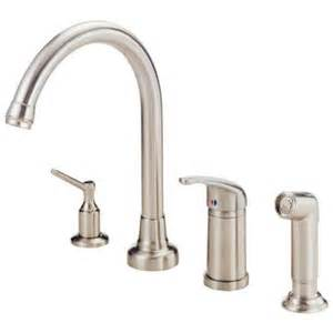 danze melrose single handle standard kitchen faucet in stainless steel d409012ss the home depot