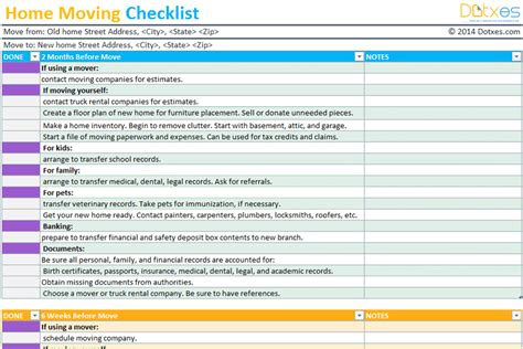 moving checklist excel college moving checklist sample moving house
