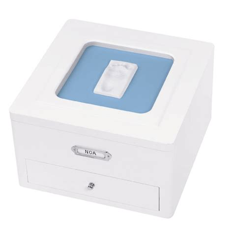 Taf Toys Mini Treasure Box cofanetto portagioie con impronte calco piedi per