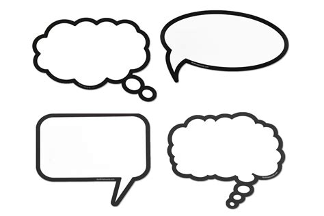 Blue Bedrooms by Dry Erase Speech Thought Bubbles