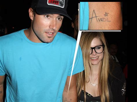 Celebrity Couple Tattoos Avril Lavigne And Brody Jenner Avril Lavigne Brody