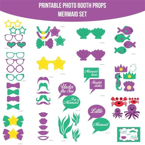 breakfast at t s printable photo booth props 68 best images about mermaid party on pinterest mermaids