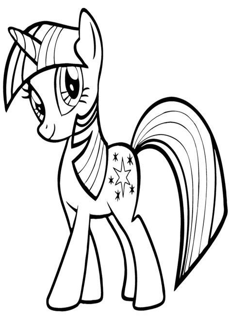My Little Pony Colouring Pages by Twilight Sparkle Kolorowanka My Little Pony Nr 1