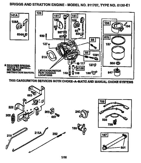 5hp briggs and stratton carburetor diagram briggs and stratton 14 5 hp diagram briggs free engine