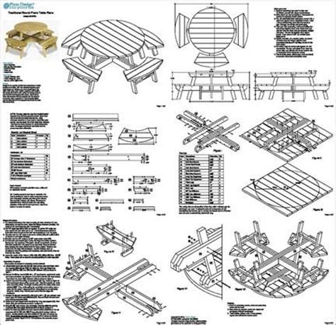 round picnic bench plans how to build a round picnic table and benches quick
