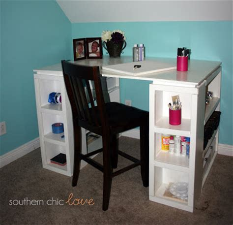 ana white craft desk southern chic love my ana white craft table