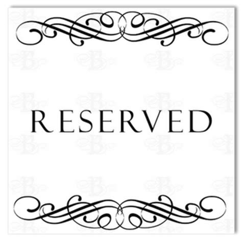 reserved seating signs template reserved sign template pictures to pin on