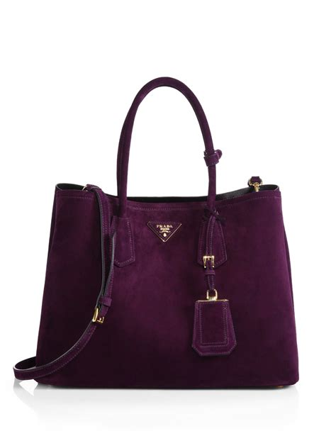 Prada Purse by Prada Suede Bag In Purple Lyst