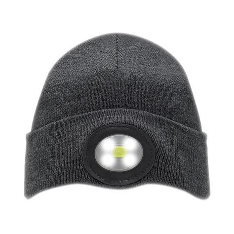 beanie hat with led light unilite beanie hat rechargeable led light