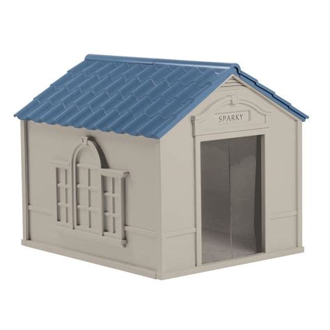 dogs in house 33 in w x 38 5 in d x 32 in h dog house dh350 the home depot